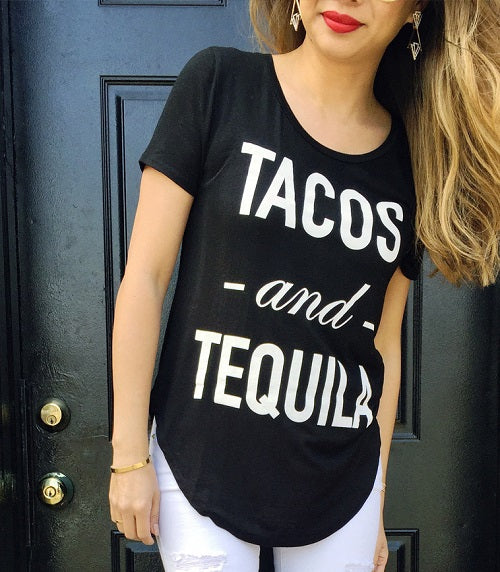 t+j Designs Tacos Tequila Flowy Tee