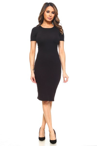 BASIC BODYCON MIDI DRESS