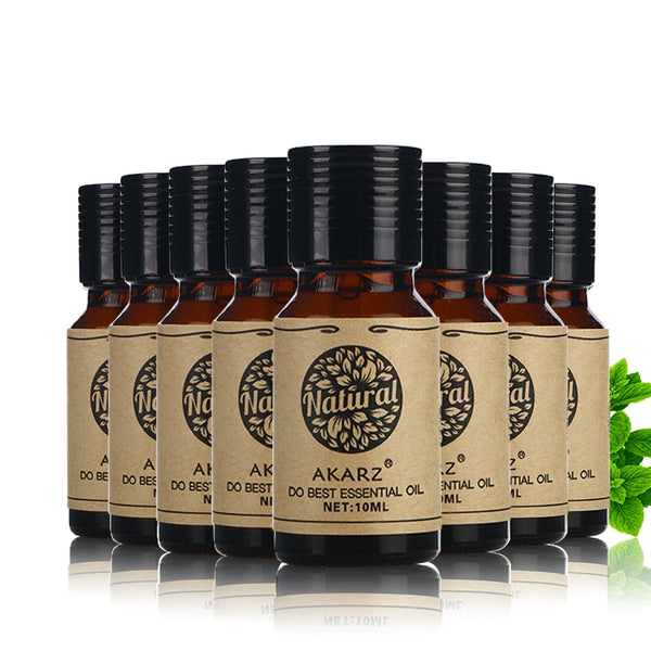 Ensemble de 8 musc Rose santal Orange Patchouli verveine arbre à thé citron huiles essentielles 10 ml
