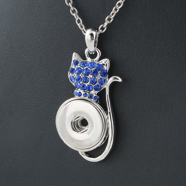 Chat Pendentif  Snap Boutons