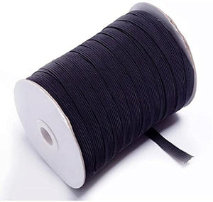 "Black Elastic (1/4"") Sold By The Yard"