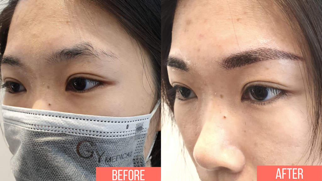 Reliable eyebrow embroidery in singapore powder combo brow ombre brow
