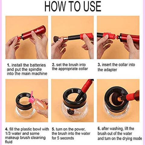 how to use the brush cleaner