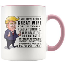 Load image into Gallery viewer, Trump Mug 25th Wedding Anniversary