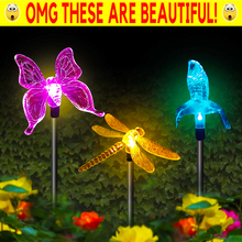 Load image into Gallery viewer, Decorative Colorful Solar Light Stakes