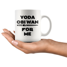 Load image into Gallery viewer, Yoda obi wan black