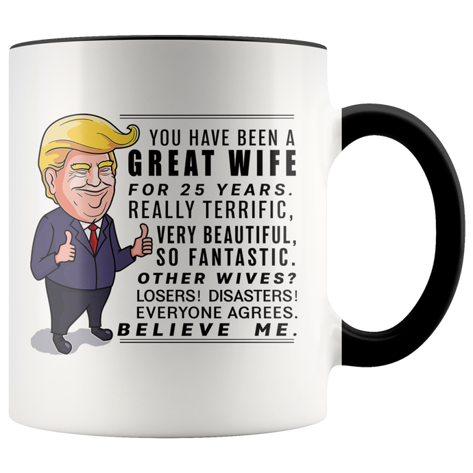 Trump Mug 25th Wedding Anniversary