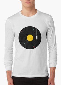 Music Everywhere WHITE FULL SLEEVES T-Shirt
