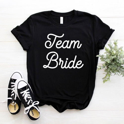 Team Bride Print Women tshirt Cotton Casual Funny.