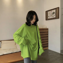 Load image into Gallery viewer, Autumn Solid Simple oversized tshirt