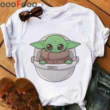 Load image into Gallery viewer, Baby Yoda Mandalorian Cute Anime T Shirt Men/woment Fashion