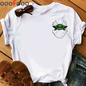Baby Yoda Mandalorian Cute Anime T Shirt Men/woment Fashion