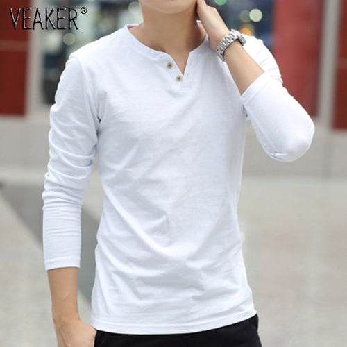 New Men's Linen t shirts Male Long Sleeve Style