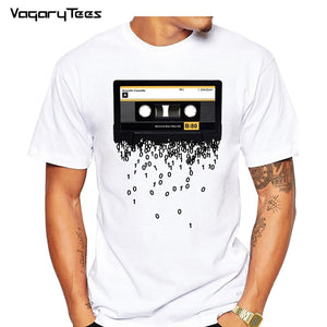 Newest Funny Retro cassettes Printed T-Shirt