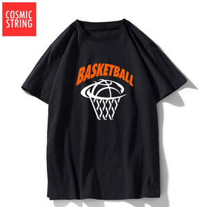 COSMIC STRING 100% cotton short sleeve cool basketball men t shirt