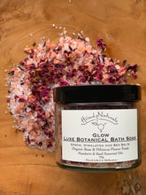 Load image into Gallery viewer, GLOW LUXE BOTANICAL BATH SOAK | with Organic Rose and Hibiscus Flower Petals (250g)