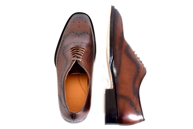 EDO Wholecut Brogue Brown