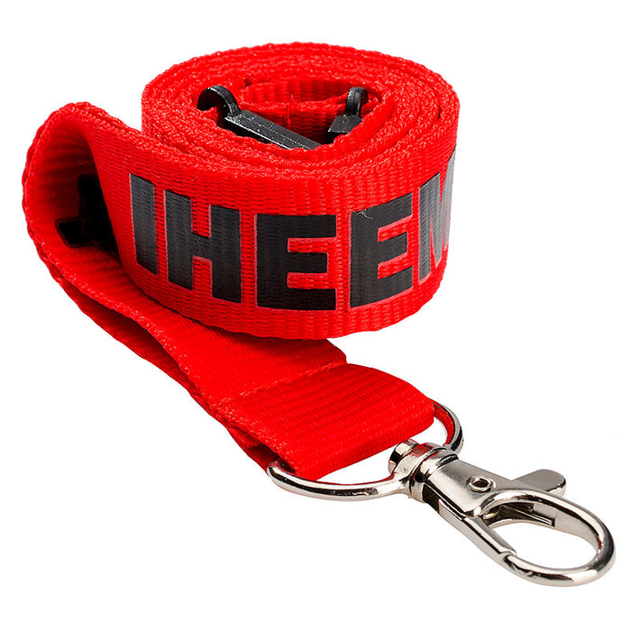 10 or 15mm Flat Polyester Lanyards Safety Break Included, branded with your detail for exhibitions etc.