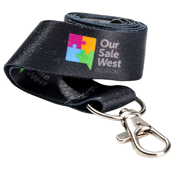 25mm Full Colour Soft Polyester Lanyards (Die Sub)