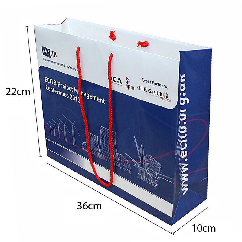Gloss Lam A3 Rope Handle Bags 36 x 10 x 22cm Full Colour