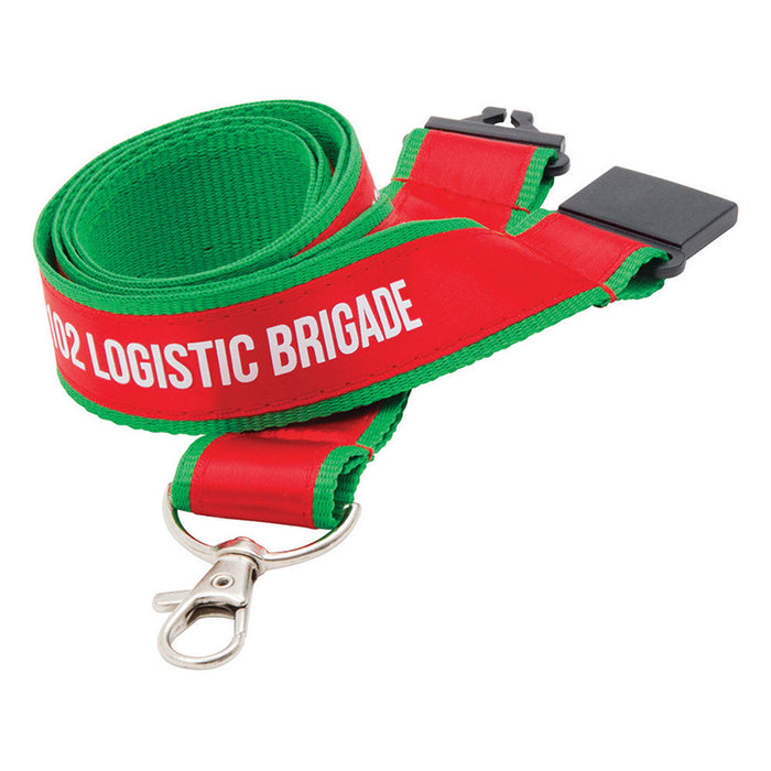 20mm Fine Woven Flat Polyester Lanyards