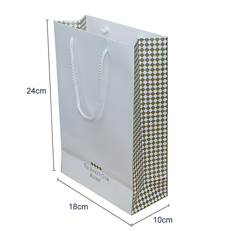 Gloss Laminated A5 Rope Handle Bags 18 x 8 x 25cm Full Colour