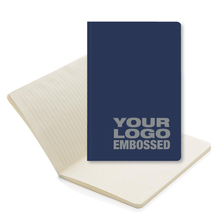 A5 Eco Ely Flexi Notebooks Embossed with your logo, on this eco friendly notebook.
