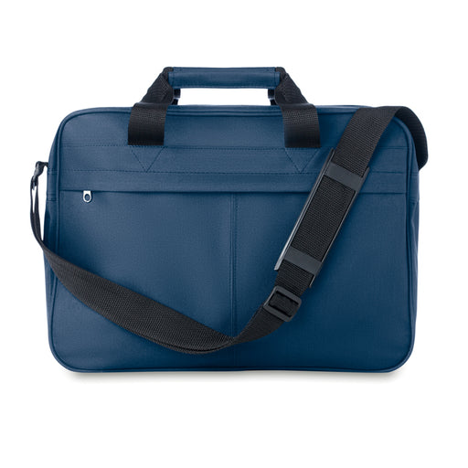 Document Bags in Blue or Black, branded with your Logo or message in 1-colour printed.