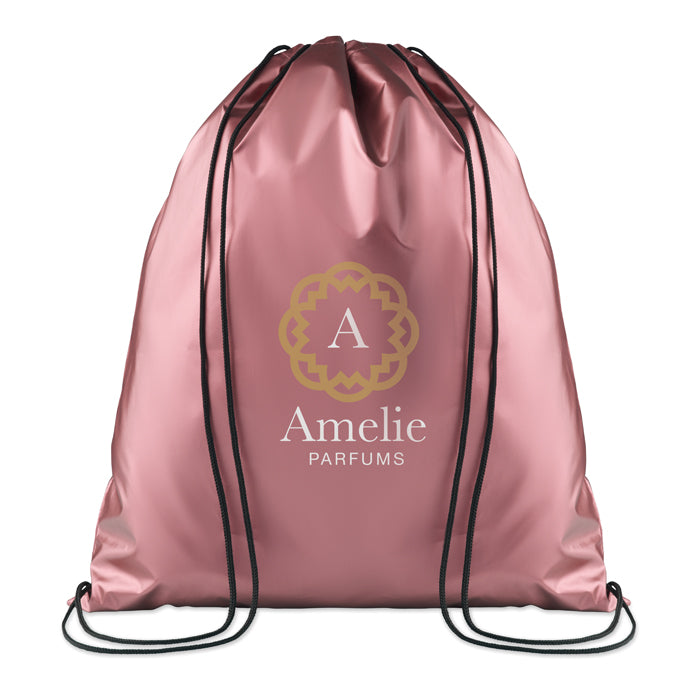 Drawstring Bag Shiny Coating