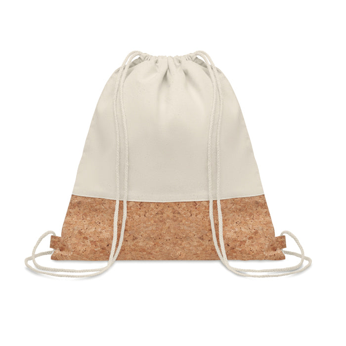 Drawstring Bag with Cork Details