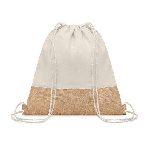 Drawstring Bag with Jute Details