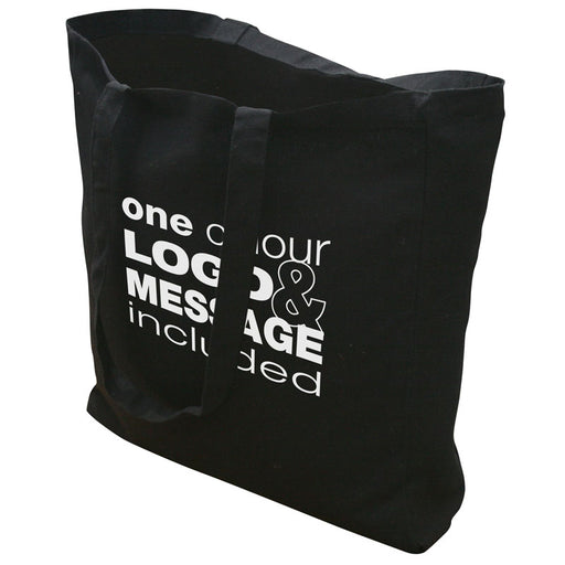 10oz Black Cotton Canvas Tote