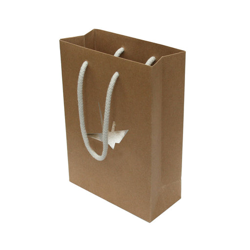 Kraft Paper Rope Handle Foil Embossed A5 Bags