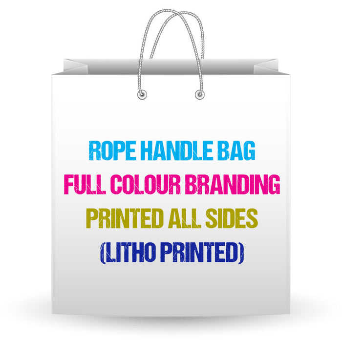 Large Gloss Lam Rope Handle Bags 54 x 13 x 42cm Full Colour