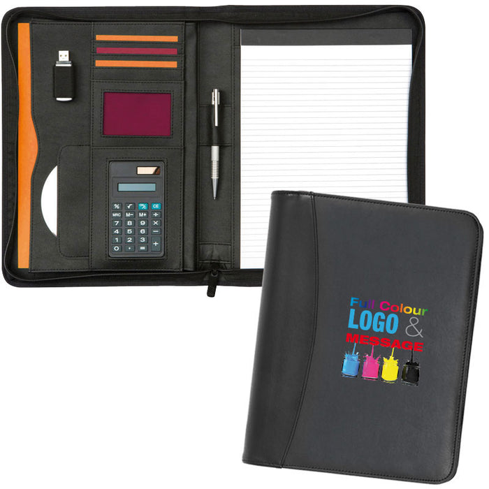 Prestbury A4 Zipped Calculator Folder Full Colour