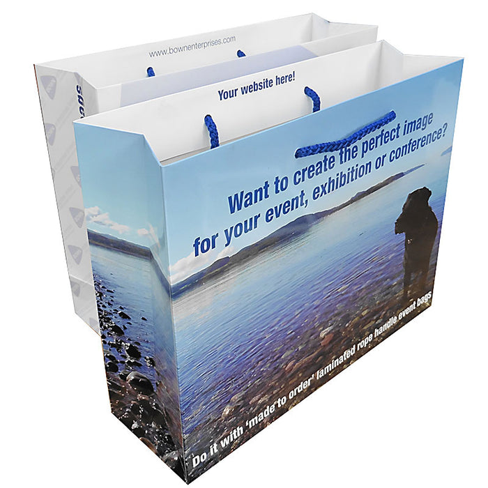 Gloss Laminated A5 Rope Handle Bags 18 x 8 x 25cm (1000 Bags)