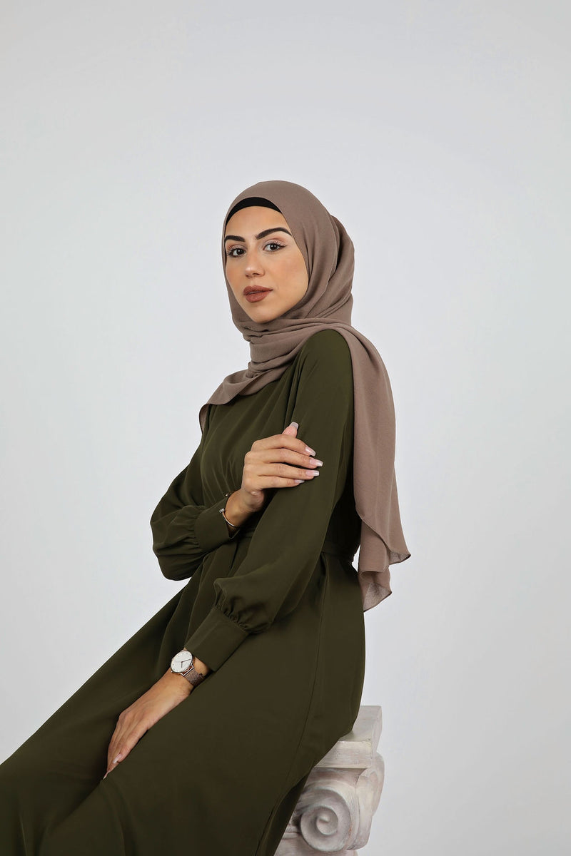 Hunter Green Plain Maxi Dress - Modernhijabi.com