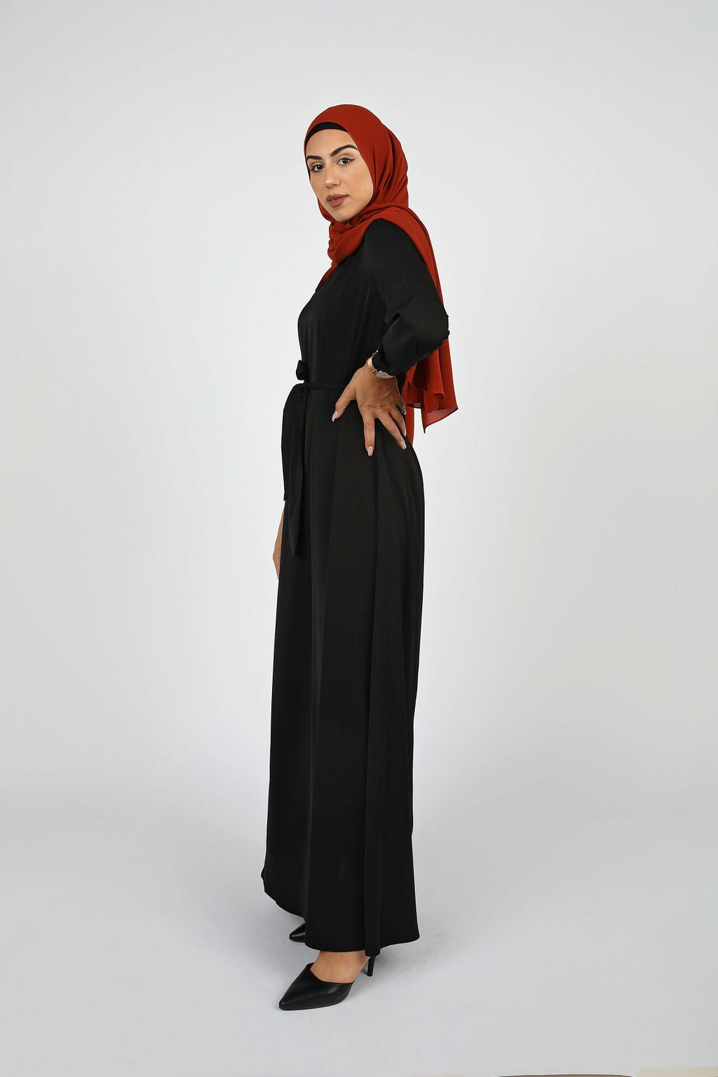 Black Plain Maxi Dress - Modernhijabi.com