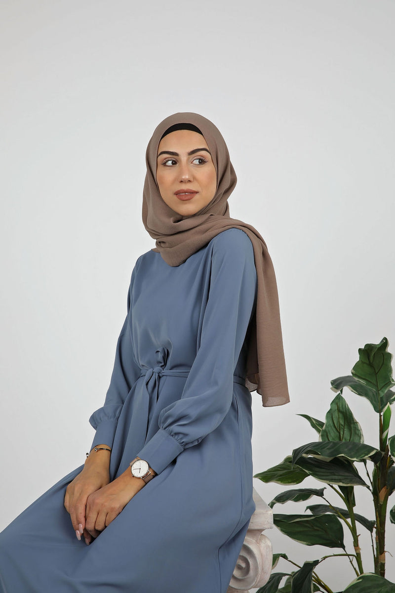 Denim Plain Maxi Dress - Modernhijabi.com