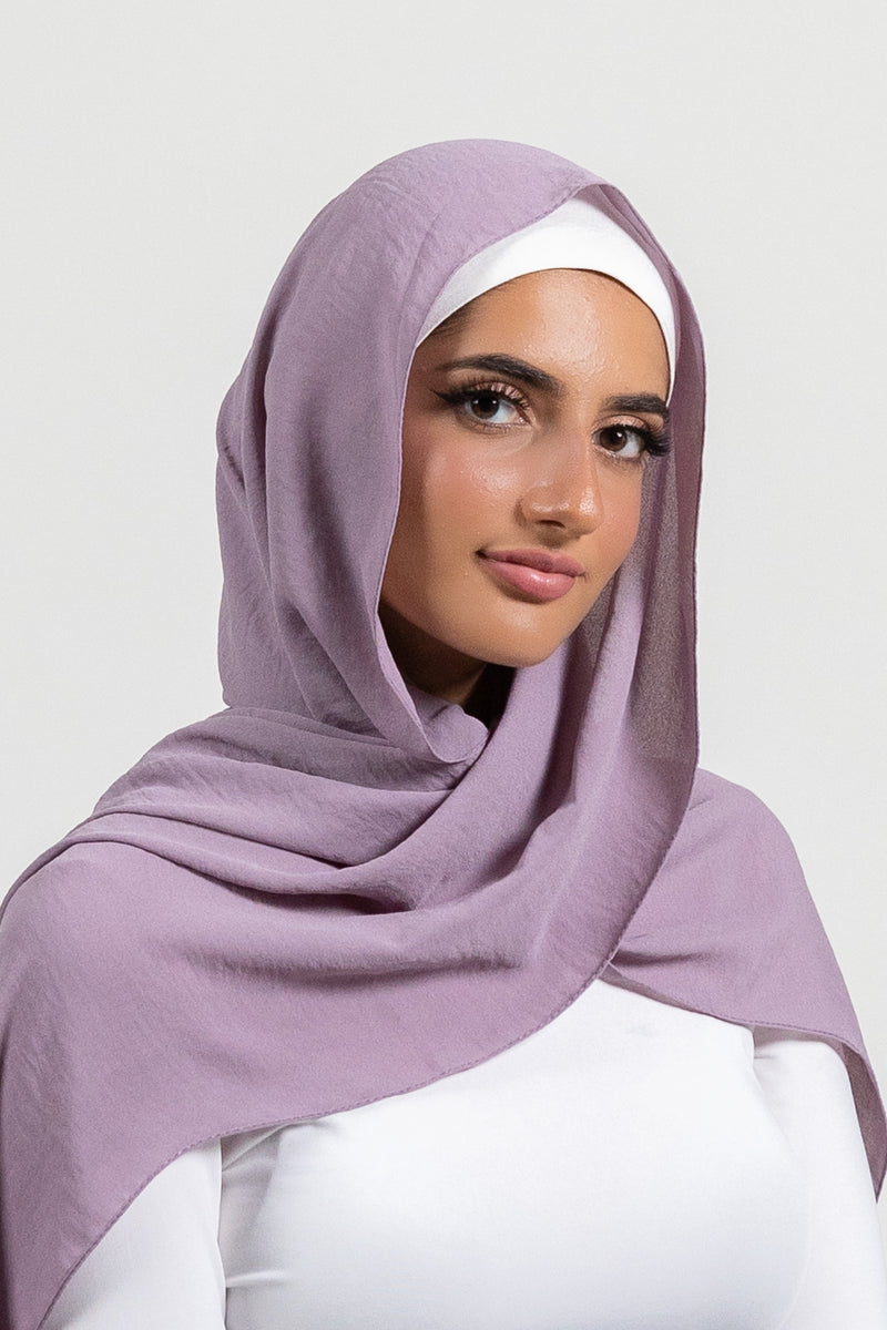 Dusty Orchid Crinkle Georgette Hijab