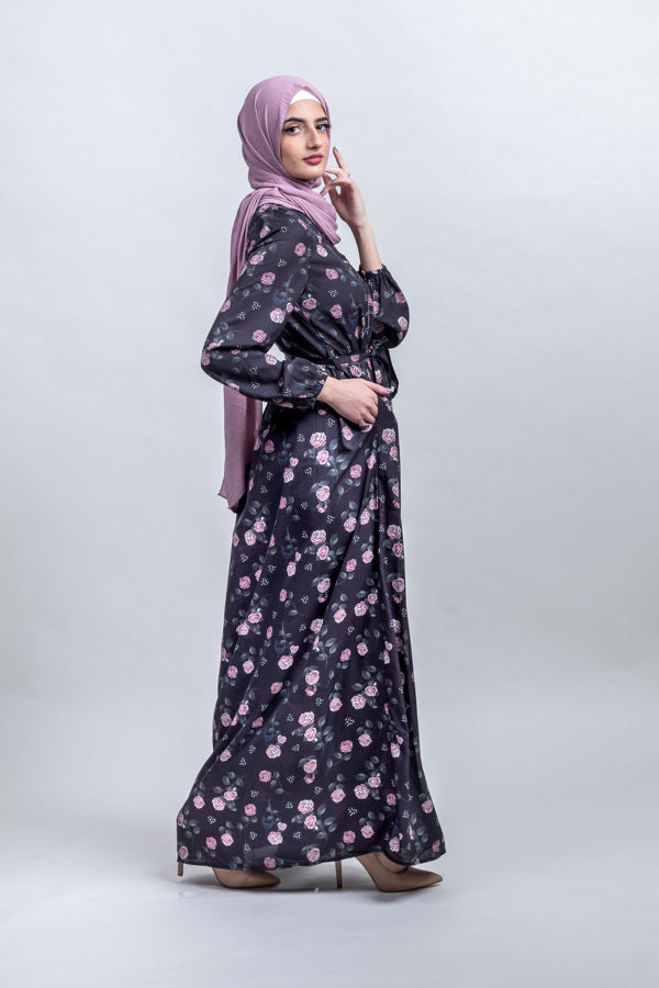 Twilight Meadow Floral Maxi - Shadow path