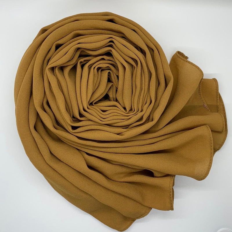 Honey Crinkle Georgette Hijab