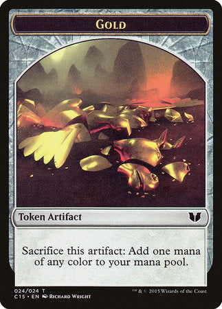 Gold // Knight (Vigilance) Double-Sided Token [Commander 2015 Tokens] | HQ Gaming SA