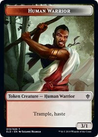Human Warrior // Food (15) Double-sided Token [Throne of Eldraine] | HQ Gaming SA