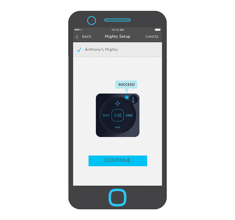 2. Connect Mighty to your phone via Bluetooth