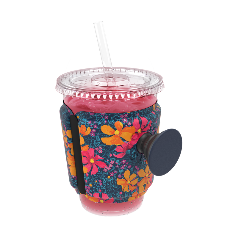 PopThirst Cup Sleeve Flower Power, PopSockets