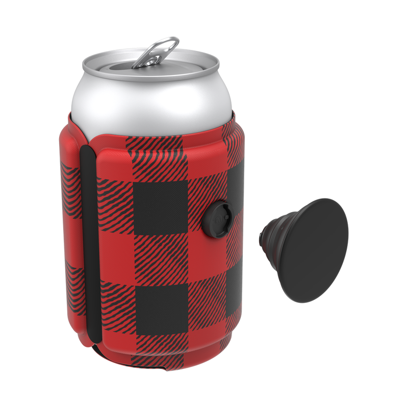 PopThirst Can Holder Classic Check Red, PopSockets