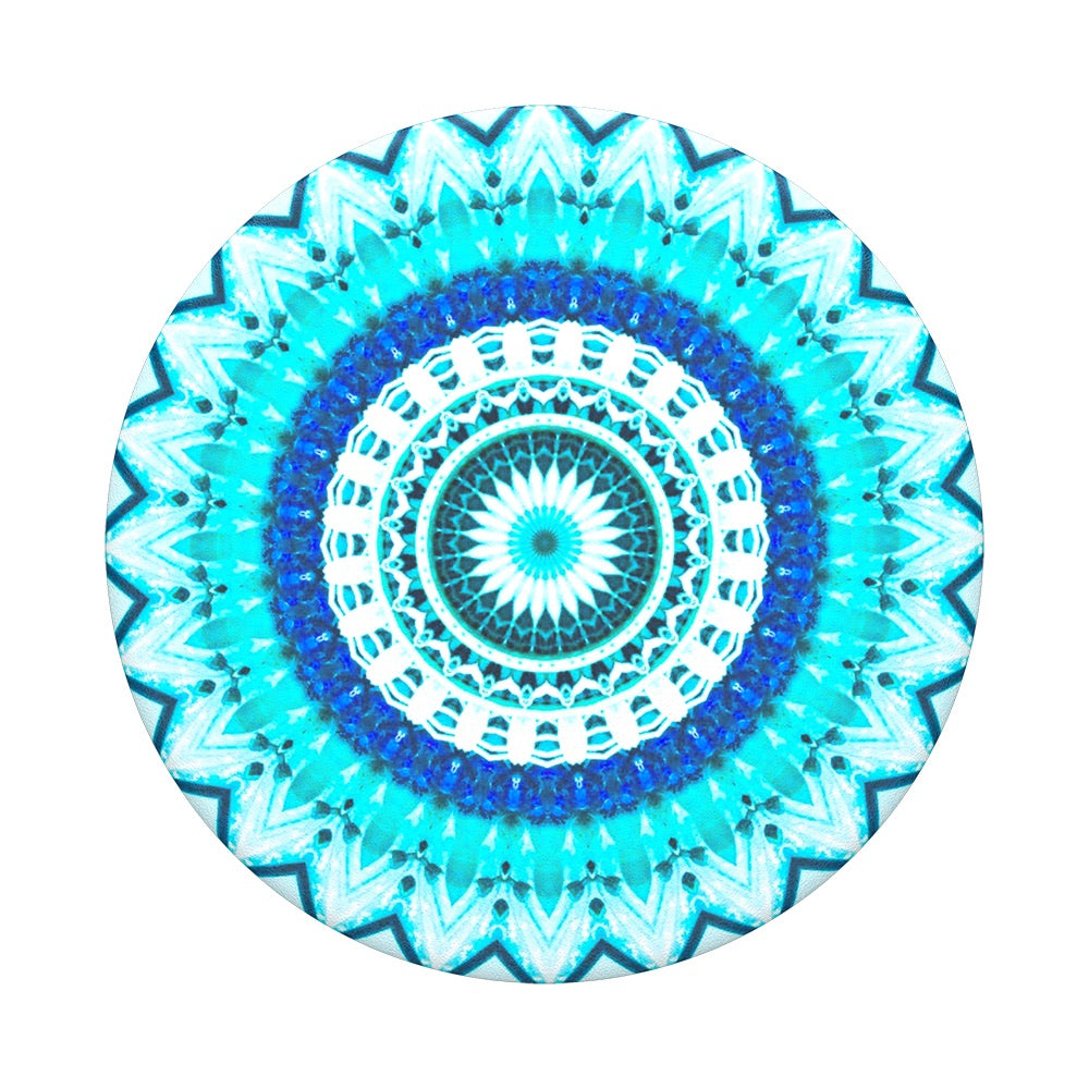 Swappable Blue Floral Mandala, PopSockets