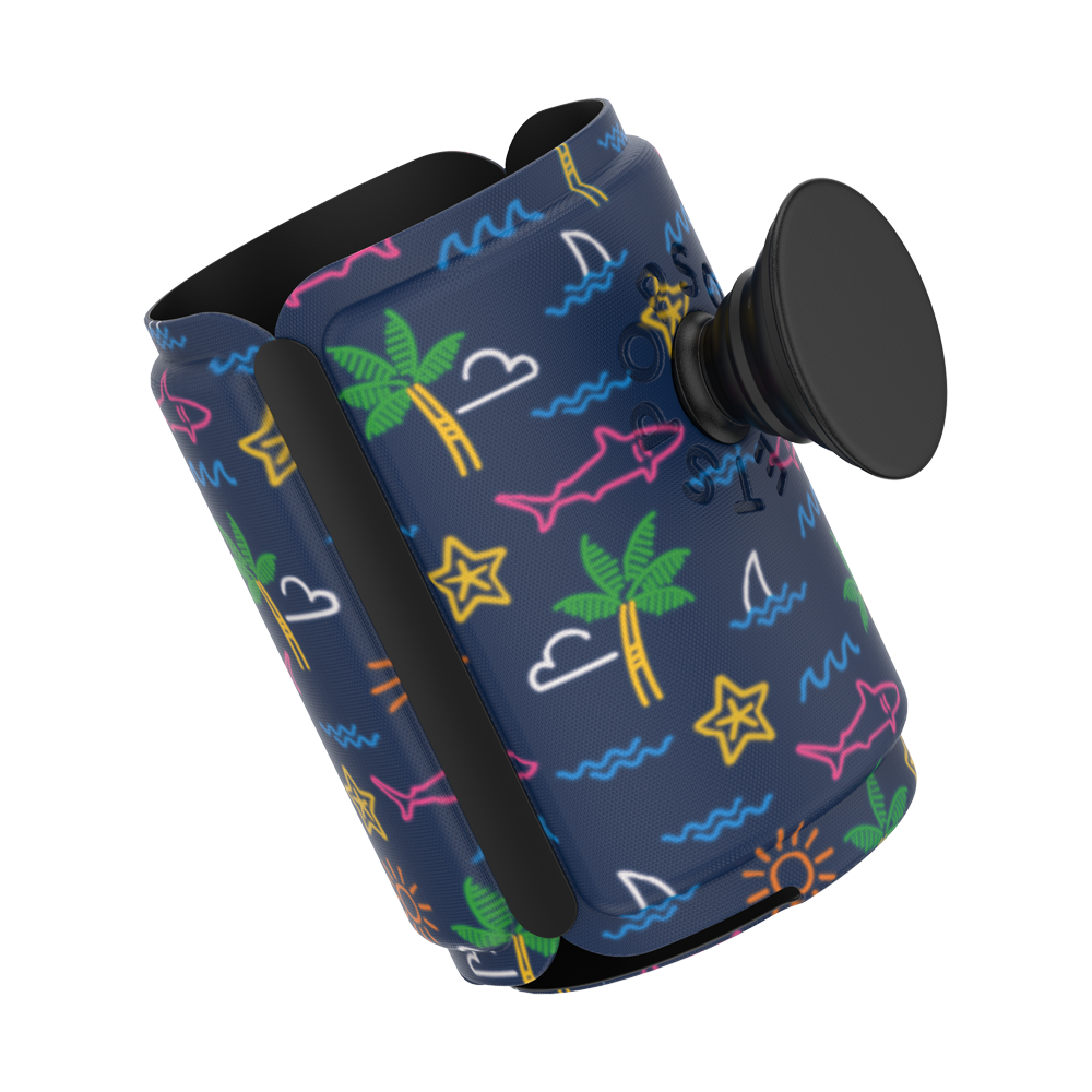 PopThirst Can Holder Neon Tropicali, PopSockets