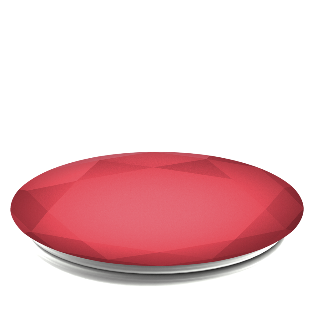 PopSockets Grip Diamond Metallic Red